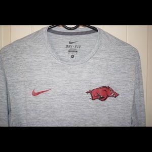 Nike Long sleeve Arkansas Razorback Shirt